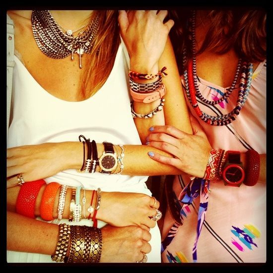 arm candy...