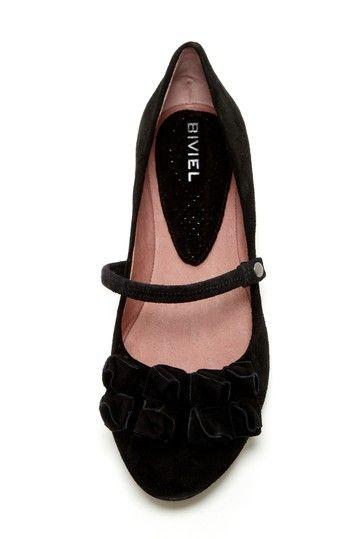 Biviel Layered Ruffle Maryjane Ballet Flat