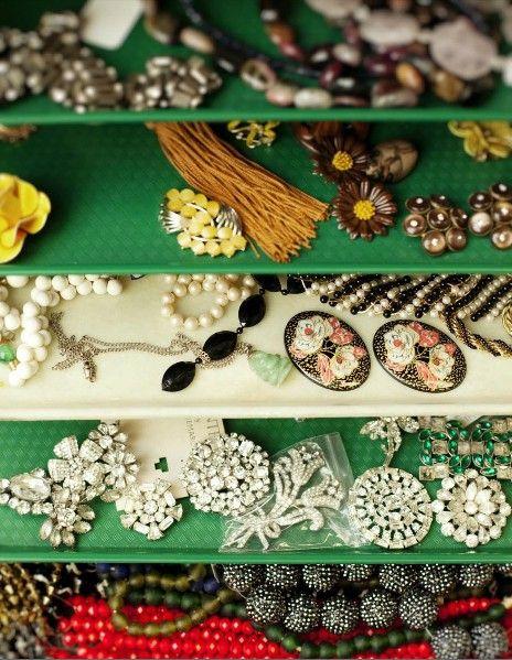 organized vintage jewelry