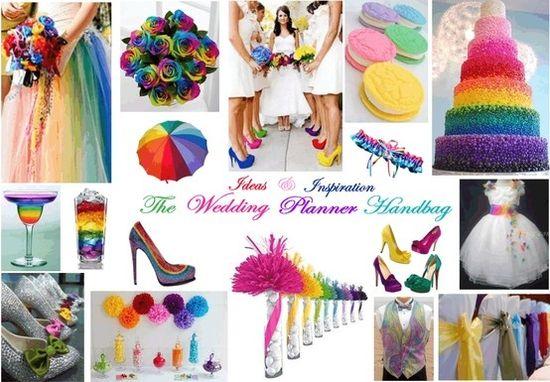 Rainbow Theme Wedding Idea