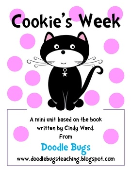 This mini unit is based on the fun book Cookie's Week written by Cindy Ward. Your kids will LOVE this easy picture book about a cat named Cooki...