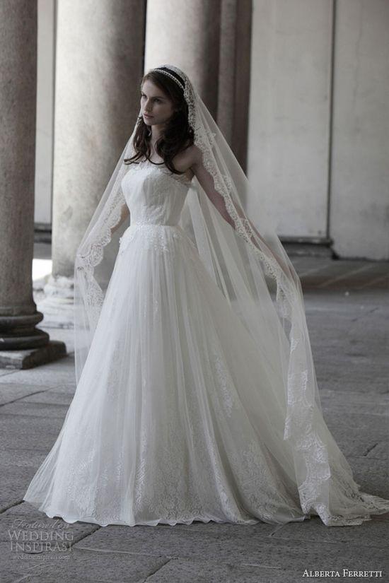 alberta ferretti wedding dress 2014 bridal buckingham strapless gown