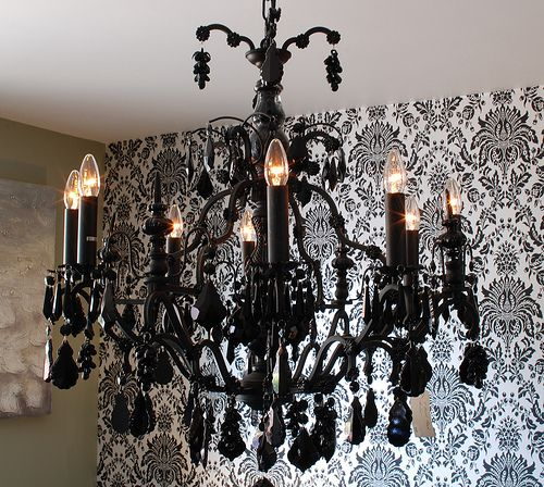 Black chandelier home interiors