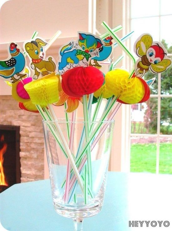 cute animal straws