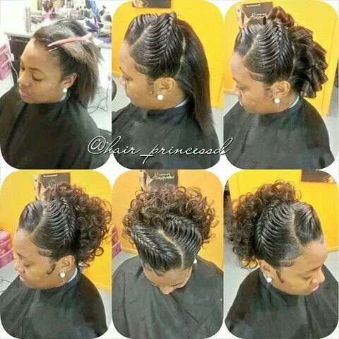 pin up hairstyle with weave images