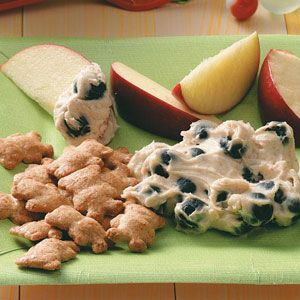 Classroom Treat Recipes from Taste of Home, including Blueberry Fruit Dip Recipe