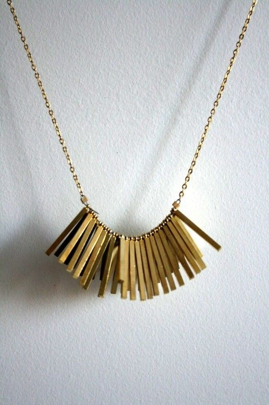 laura lombardi - brass chain and charms