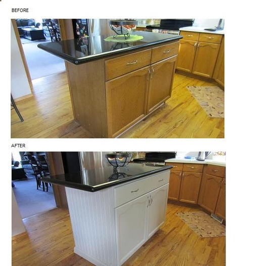 Before & After DIY Kitchen Island