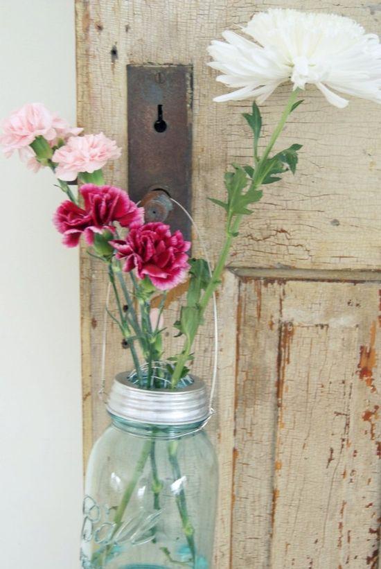 lovely mason jar flowers