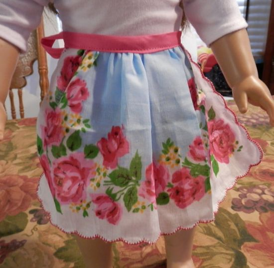 Apron  18 Doll Clothes  American Girl Half Apron by rebornfabrics, $3.99