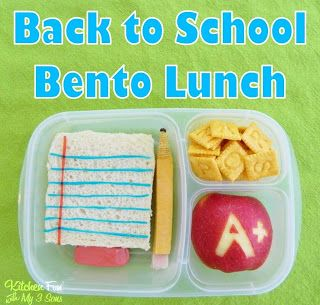 Back to School Fun Food Bento Lunch