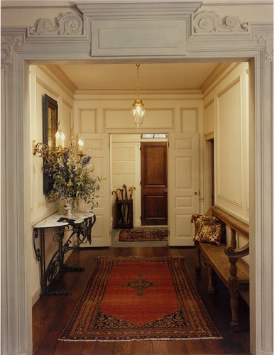 Paneled wall.  Entance Hall/Mudroom - traditional - entry - boston - Solomon+Bauer+Giambastiani Architects