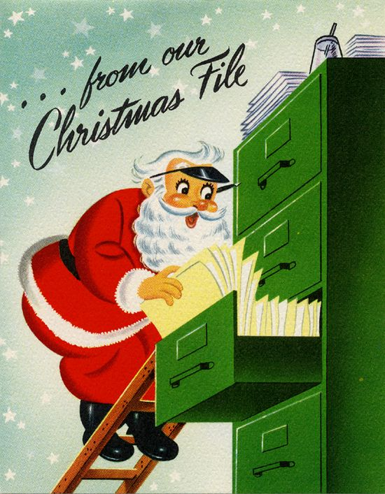 So charming. #Santa #vintage #Christmas #cards