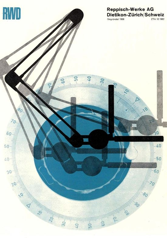 Josef Muller-Brockmann Reppisch-Werke 1962 #poster #graphicdesign