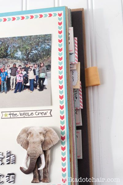 Amazing scrap booking. Be sure to visit the links about her travels, especially the Africa one.