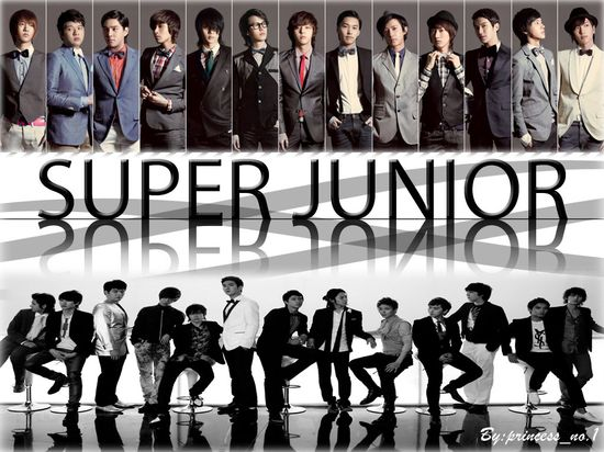 Consisting of leader Leeteuk, Heechul, Han Geng, Yesung, Kangin, Shindong, Sungmin, Eunhyuk, Donghae, Siwon, Ryeowook and Kibum. Kyuhyun joined the group in 2006. / korean star, k-pop