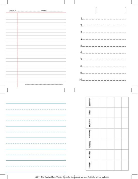 more printable journaling cards!