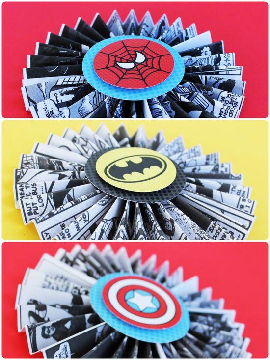 superhero party decor