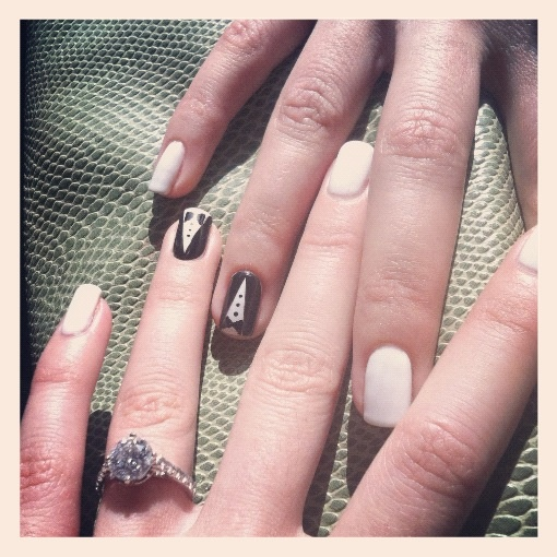 Bachelorette nails!! #nails #Bachelorette #weddingnails #wedding #bridetobe #bride #bridalnails #tuxedo #engagement #engagementring #ring #love