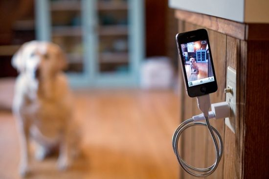 a phone charging cable that's also a flexible tripod.