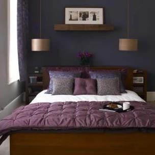 Purple & Navy Bedroom by caliann24, via Flickr