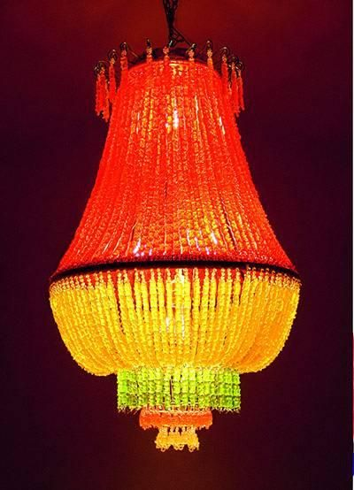 The subversive art of cooking    Yaya Chou used 2,500 jelly sweets to create this decorative light fitting.    Phaidon