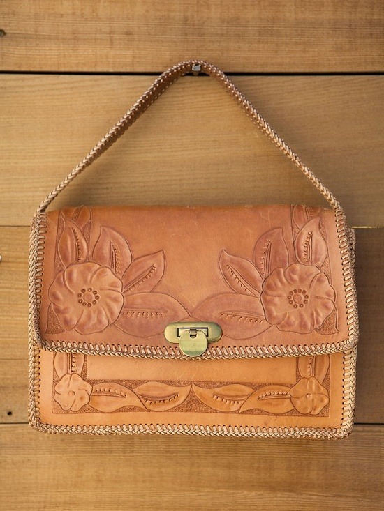 Vintage Tooled Leather Purse.... My Uncle Lonnie made this exact purse for me when I was 5.. I just looked at it again yesterday... awesome!!!