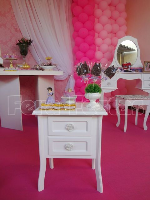 Pink Princess Party.  See more party ideas at CatchMyParty.com.  #princess #partyideas