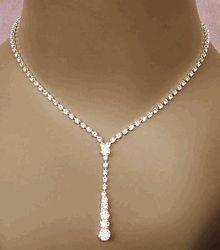 Drop Rhinestone Jewelry Set