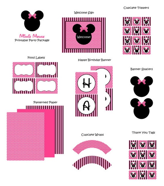 Minnie party printables :)