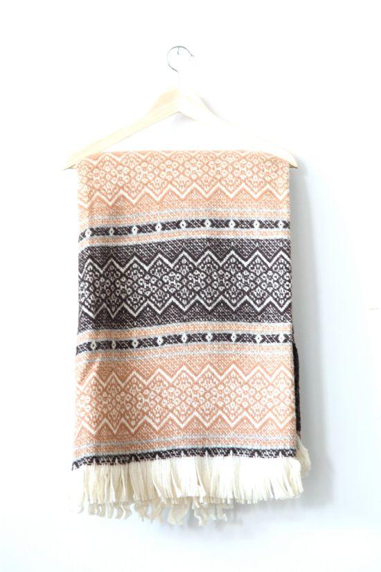 Amana Blanket. $65.00, via Etsy.