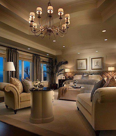 What a BEAUTIFUL master bedroom!!! Love it!
