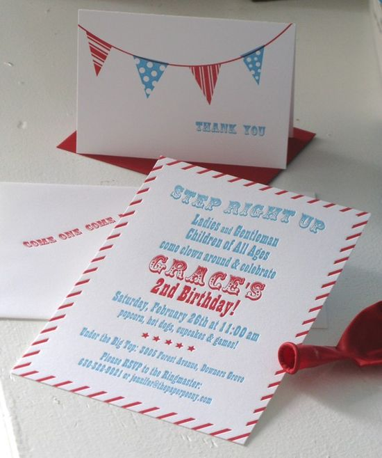 Invite for a kid's birthday party