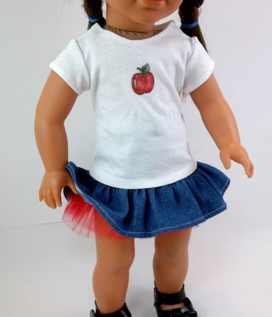 18 inch Doll Clothes American Girl  Denim by snowflakeboutique, $15.00