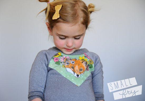 green fox print baby sweatshirt organic cotton. $29.00, via Etsy.>>scarf+tee #tee #scarf #refashion