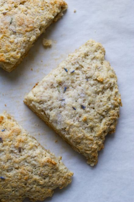 Oatmeal Scones topped with Lavender Sugar