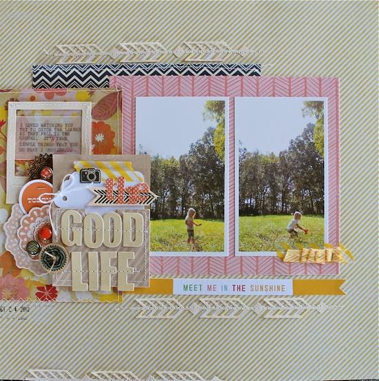 #papercraft #scrapbook #layout The Good Life - layered