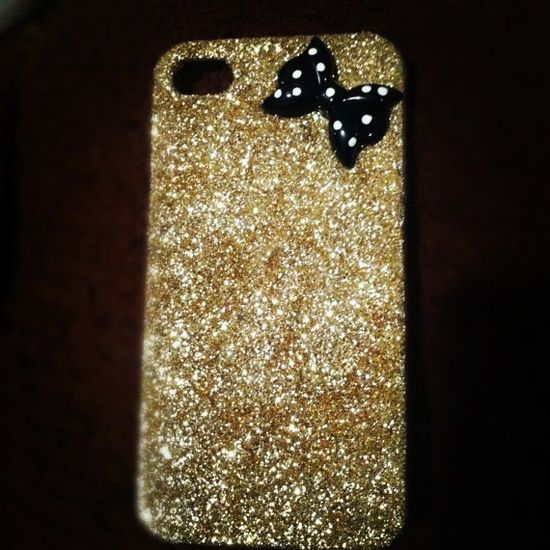 GlamPipes Glitter iphone 4/4s Case by GlamPipes on Etsy