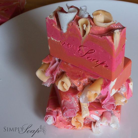 Sweetpea Sparkles handmade soap [sweetpea] - $6.00 : Simply Soap, traditional handmade soap