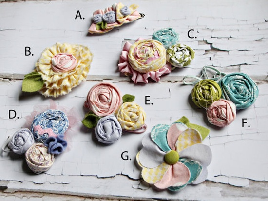 Love love love these pretty hair accessories for little girls!