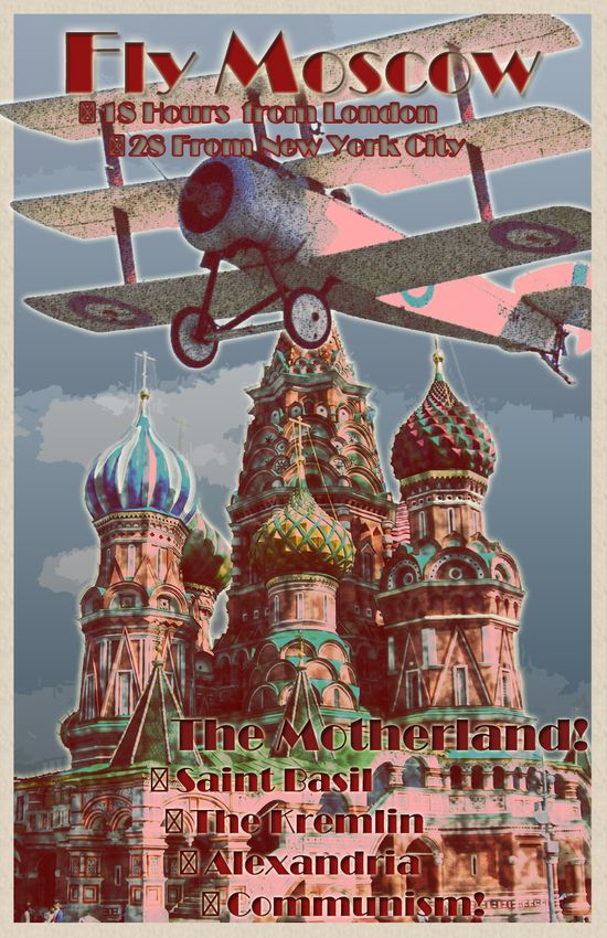 #Moscow #vintage #travel #poster #Russia