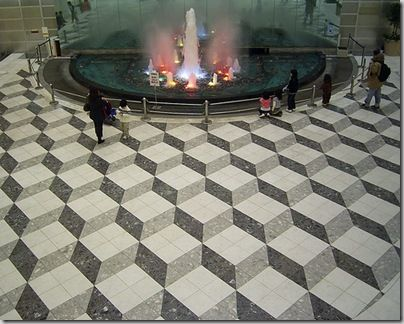 optical illusion floor.