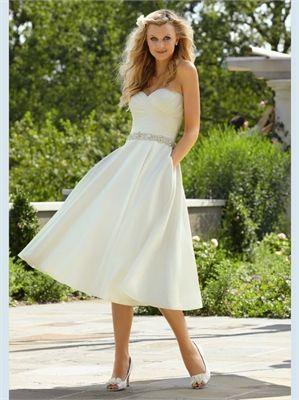 White Short Sweetheart Beading Sash Satin 2013 Wedding Dresses