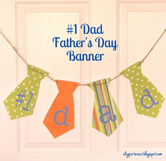 cute and simple father's day banner