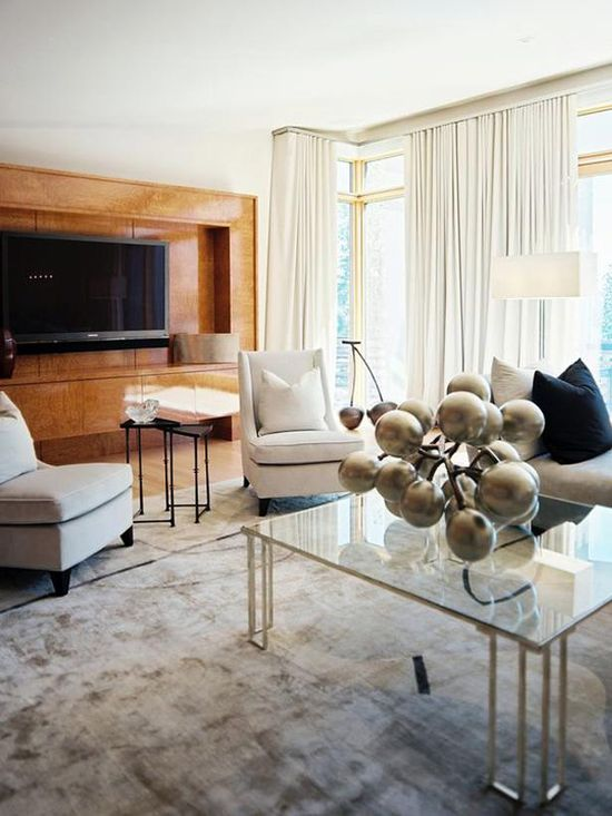 Modern Living Room, Designed by Jamie Herzlinger