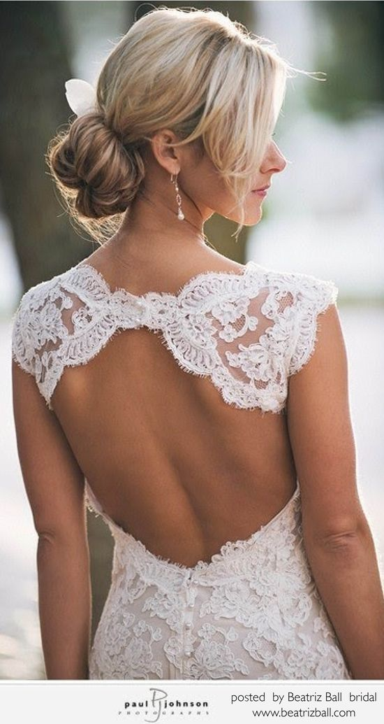 Backless #Lace #Wedding #Dress … Wedding #ideas for brides, grooms, parents & planners itunes.apple.com/... … plus how to organise an entire wedding, within ANY budget ? The Gold Wedding Planner iPhone #App ? pinterest.com/...  for more #wedding #inspiration #gowns