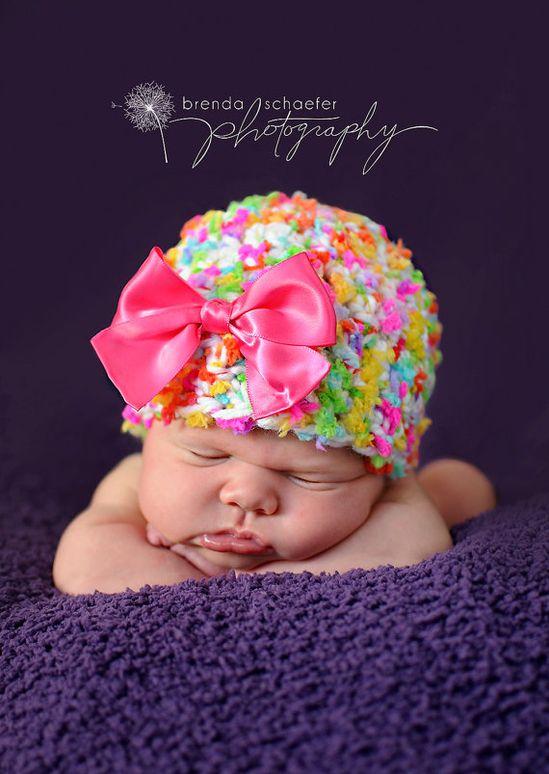 Baby Girl Newborn Hat3months Photography by Maddiesdivinedesigns, $20.00