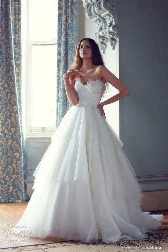 karen willis holmes 2013 #wedding #dresses mathilda strapless #gown