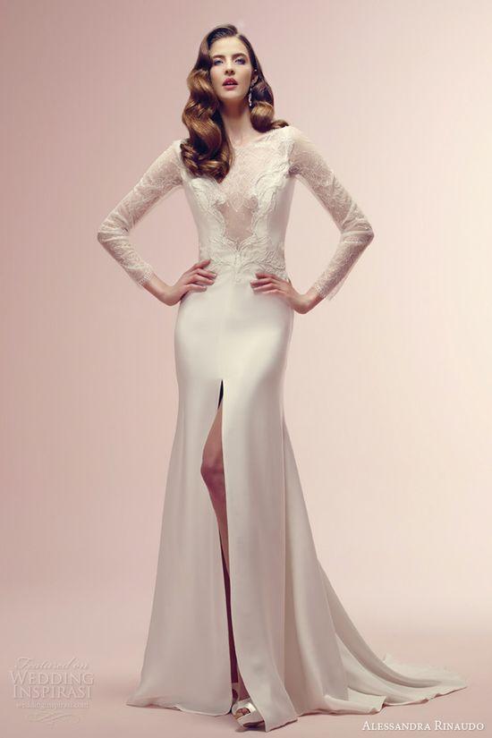 alessandra rinaudo 2014 romilda long sleeve wedding dress