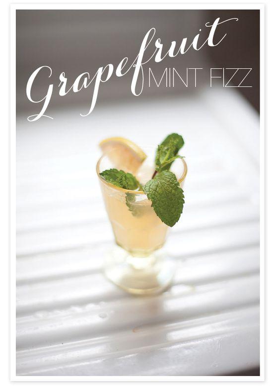 Grapefruit Mint Fizz: Sugar Cube, Angostura Bitters, Mint, Grapefruit Juice, Champagne, Tonic